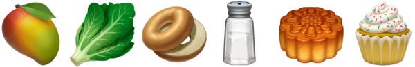 iOS 12.1 Yiyecekler Emoji
