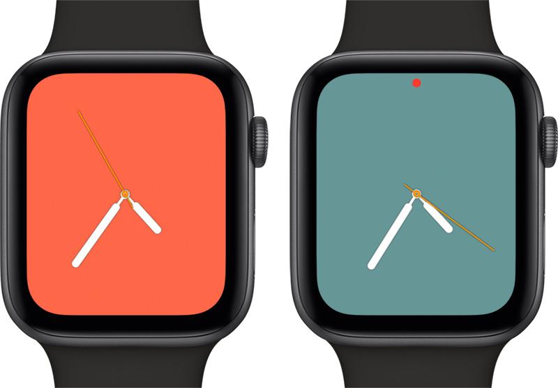 watchOS 5.1 Renkli Saat Kadranı