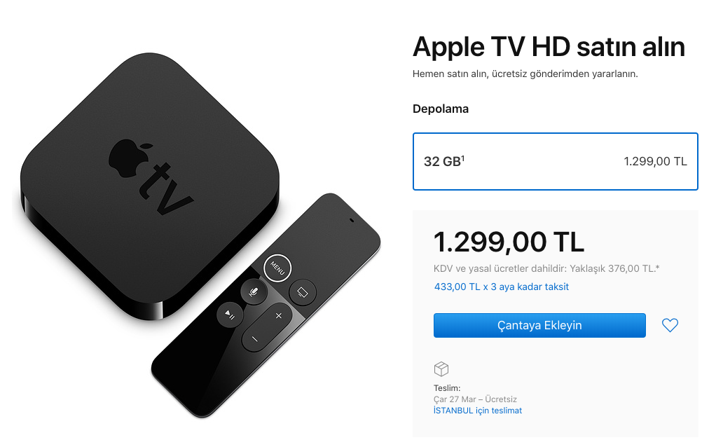 4. Nesil Apple TV ve Apple TV HD