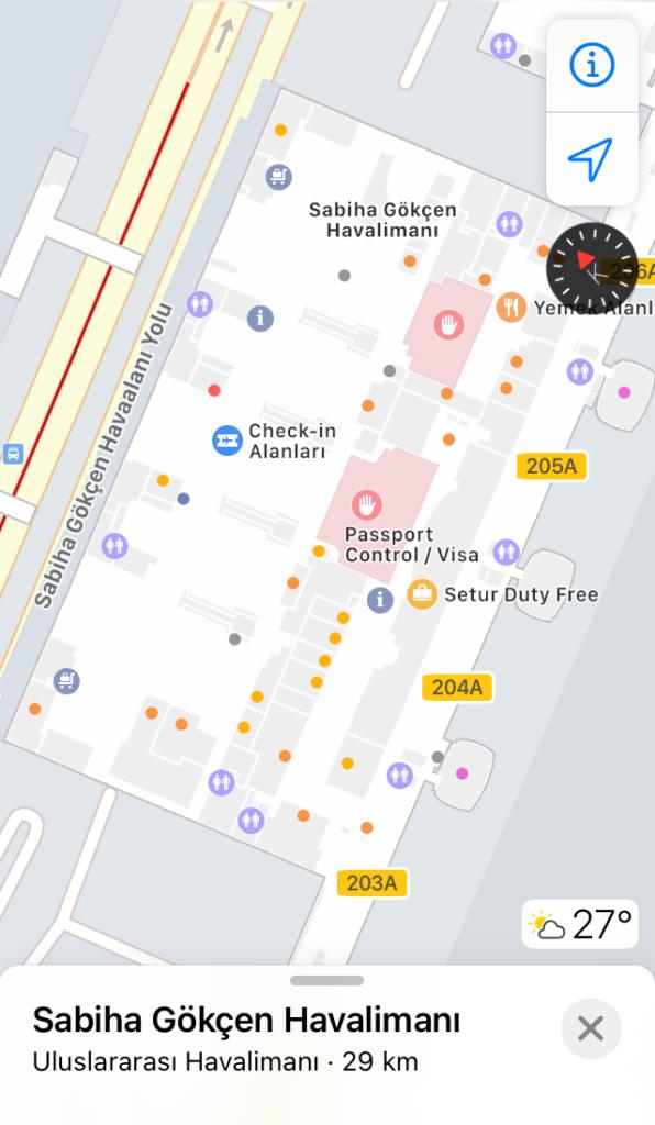 apple haritalar iç mekan harita özelliği