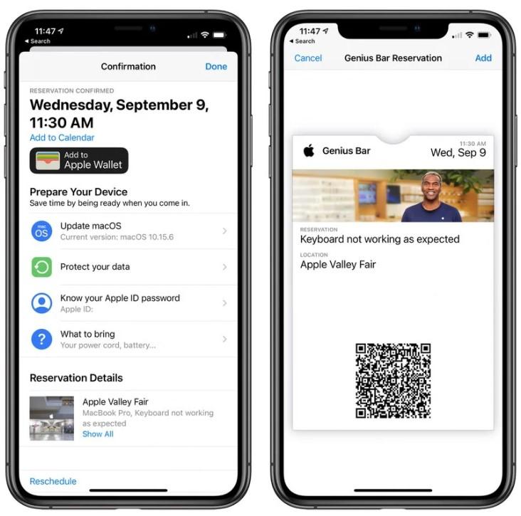 apple destek uygulaması wallet desteği