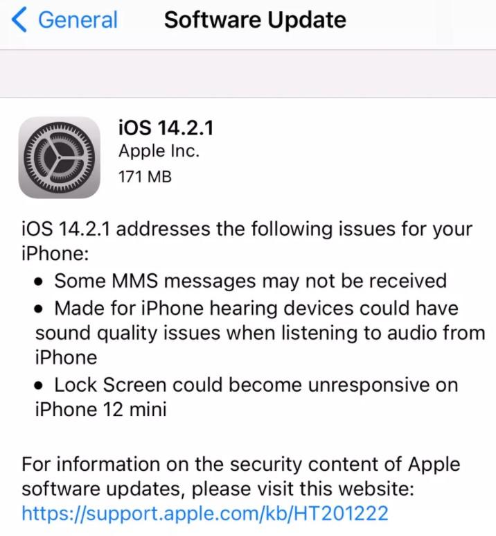 iOS 14.2.1 güncellemesi yayınlandı