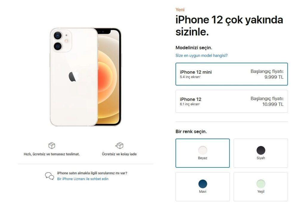 iPhone 12 Türkiye fiyatları açıklandı